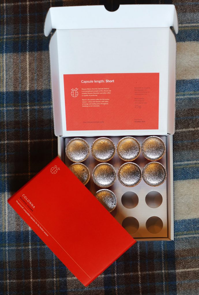 Musasa Nkara coffee capsules by Colonna Coffee