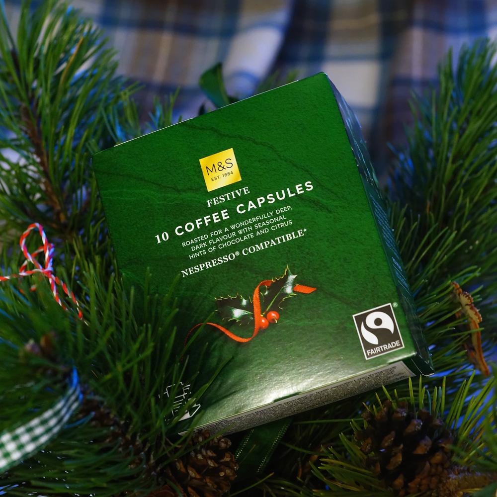 Festive coffee capsules byMarks&Spencer