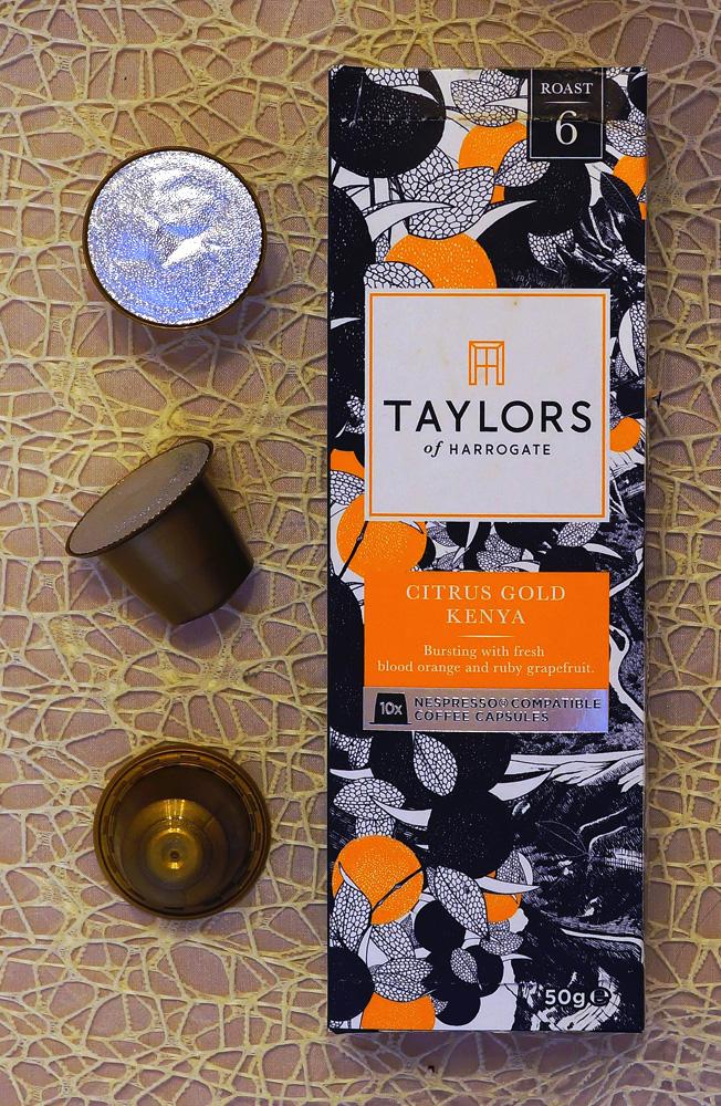 Citrus Gold Kenya coffee capsules by Taylors