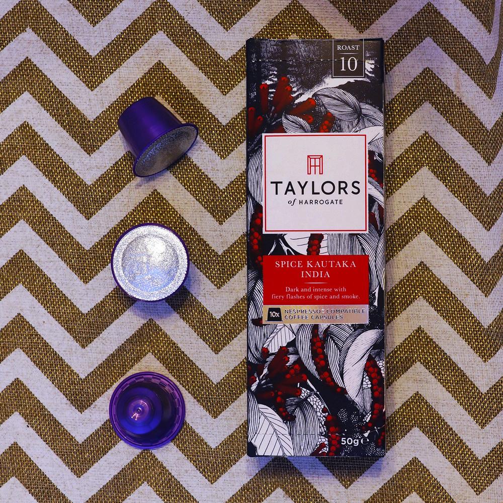 Spice Kautaka India coffee capsules by Taylors