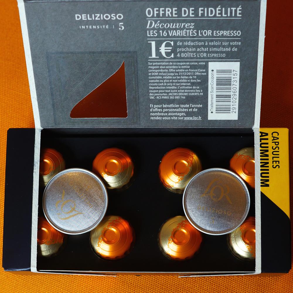 Delizioso coffee capsules by L'Or Espresso