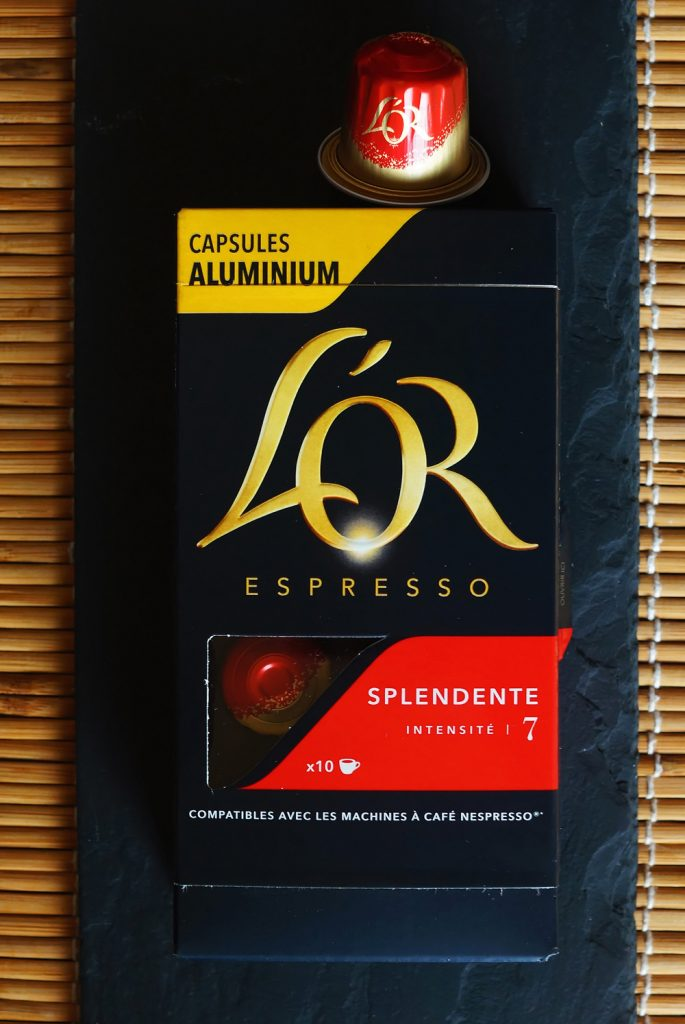 Splendente coffee capsules by L'Or Espresso
