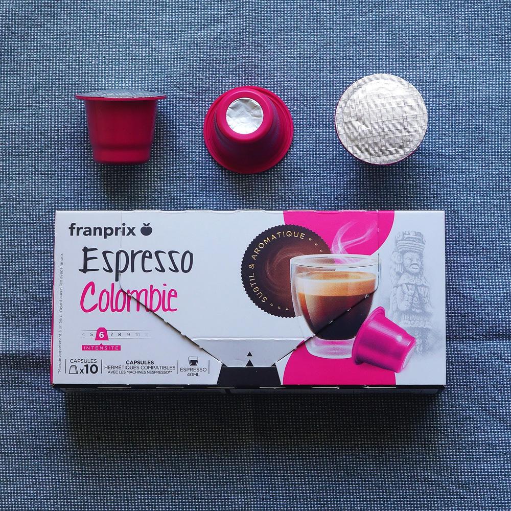 Franprix Espresso coffee capsules packaging